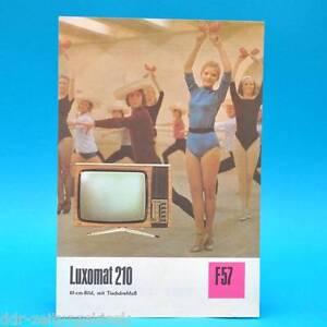 Fernsehtischgeraet-Luxomat-210-DDR-1975-61-Roehre-Prospekt-Werbung-DEWAG-F57-B