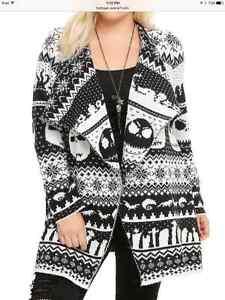 Christmas Cardigan Sweaters.Details About Disney Nightmare Before Christmas Cardigan Sweater Jack Skellington Torrid 4 5