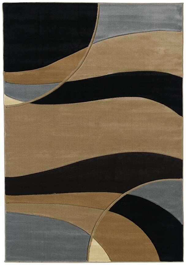 CONTEMPORARY Blau CIRCLES 2x8 area rug LINES LINES LINES runner   Actual Größe 2' 7  x 7' 4  a16a43