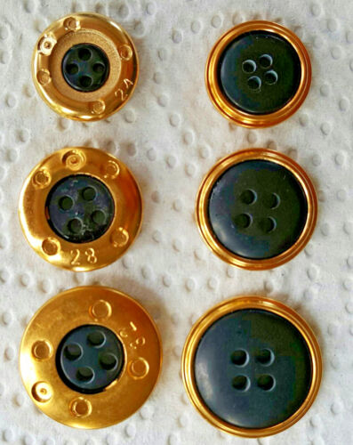 4 Glamour boutons d/'or version Diverses Tailles /& Couleurs gombok кнопка כפתור