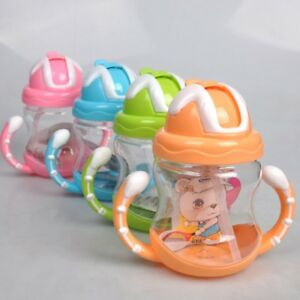 Sippy Cups With Handles Baby Kid Straw Drinking Bottles Children Training Cup