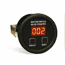 "Marine water witch bilge counter cycle history 2/"" Round Gauge Black"