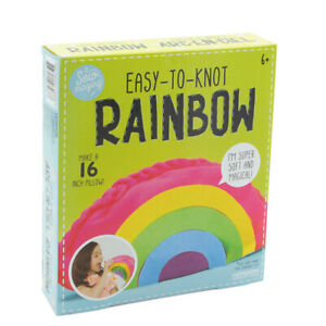 Sew-mazing-Easy-To-Knot-Rainbow-Pillow-Kit-DIY-Fun-Kids-Craft-Project-No-Sewing
