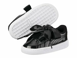 Zapatos Scarpe Basket Dettagli Schuhe Bambina Su Shoes Vernice Glam Puma  Fiocco Heart Nero gqP8q 6efd8fb13c9