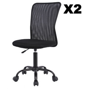 Superb Details About Set Of 2 Mesh Office Chair Computer Mid Back Task Swivel Seat Ergonomic Chair Pdpeps Interior Chair Design Pdpepsorg