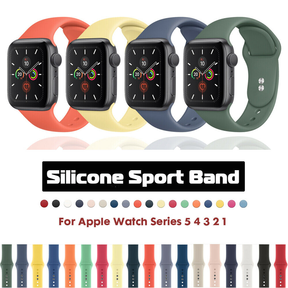 sports silicone iwatch band strap for apple