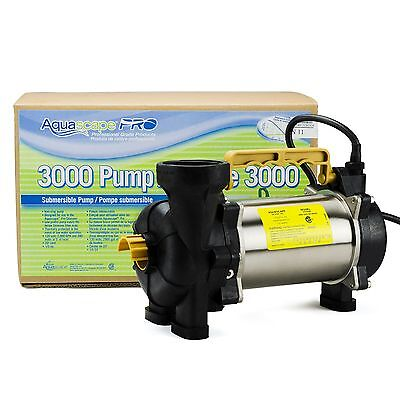 AQUASCAPE PRO #20002 3000 GPH SUBMERSIBLE POND & PONDLESS ...