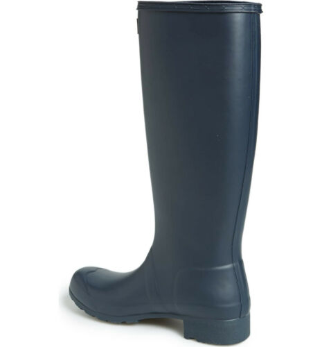 Hunter Original Boots Navy Matte Tall Packable Rain Boots New Authentic
