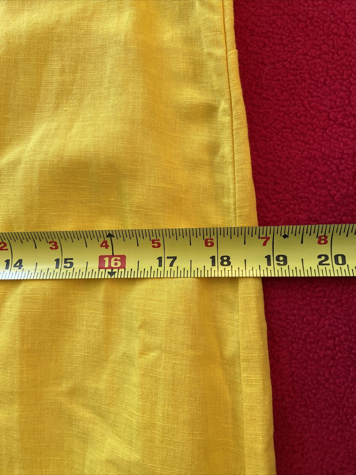 floryday bright yellow linen shift dress size med… - image 9