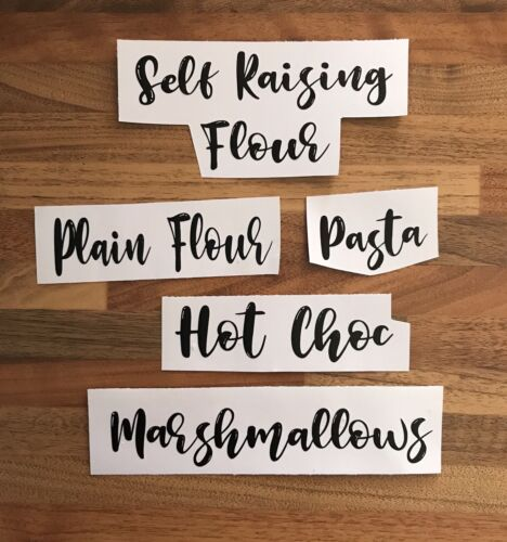 Mrs Hinch Inspired personalised vinyl stickers//label// Any Colour//word