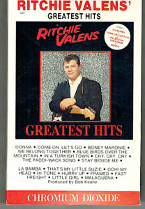 MFD-IN-CANADA-DOLBY-Cr02-1987-ROCK-CASSETTE-TAPE-RITCHIE-VALENS-GREATEST-HITS