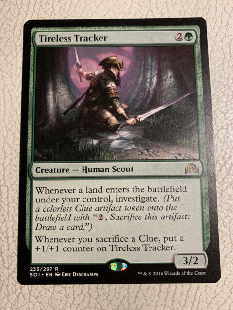 TIRELESS TRACKER Shadows over Innistrad MTG Green Creature — Human Scout Rare
