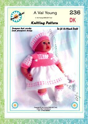 DOLLS KNITTING PATTERN  271 for  Annabell Doll 18 //19ins Val Young