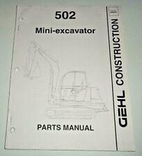 Gehl 502 Mini Excavator Parts Manual Catalog Book Oem 300