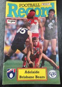 AFL-FOOTBALL-RECORD-JULY-1992-Vol-81-No-6-Adelaide-Vs-Brisbane-Bears