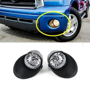 SMOKED CLEAR OE FOG LIGHT//LAMP PAIR+BEZEL COVER+SWITCH FOR 07-13 TOYOTA TUNDRA