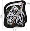 miniature 11 - PIRATE SKULL Embroidered Biker Patches Skeleton Iron / Sew on Badges Grim Reaper