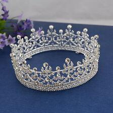 Luxus 4.5cm hoch Königin Hochzeit Braut Haarschmuck Haarreif Krone Diademe Tiara
