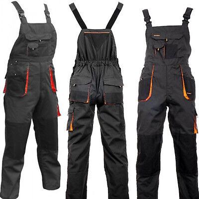 Mens Work Trousers Bib And Brace Overalls Knee Pad Pocket Dungarees Multipocket. Einfach Zu Reparieren