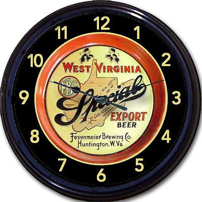 Fesenmeier Brewing Co Huntington Wva Beer Tray Wall Clock Ale Lager Brew Pub 10 Ebay