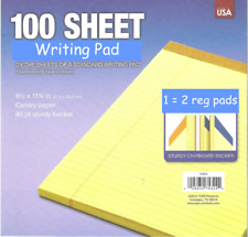 Double Count 85 X 11 Yellow Legal Note Pad Lined 100 Sheets Usa 80ptbakr