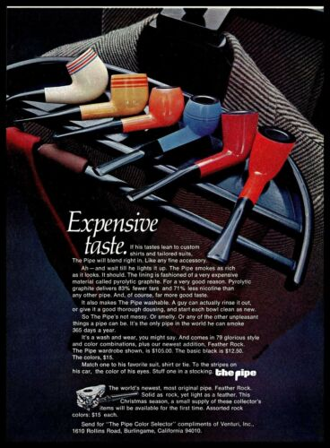 1970 The Smoking Pipe Color Selector Wardrobe Suit Vintage 1970s Photo Print Ad