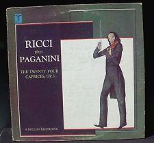 Paganini 24 caprices Ruggiero Ricci 73 Turnabout TV-S 34528  LP NM, CV EX