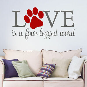 Image Is Loading Love Is A Four Legged Word Paw Print