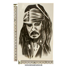 Jack Sparrow Tattoo - Temporary Tattoo -Pirates of Carribbean - Für Arm & Waden