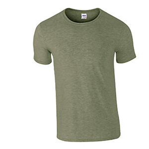 a6ce478d50f Men s Softstyle T Shirt Gildan Semi Fitted T-Shirt Heather Military ...