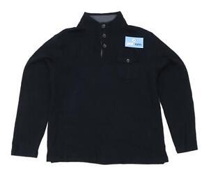 Marks-amp-Spencer-Mens-Size-L-Cotton-Black-Sweatshirt
