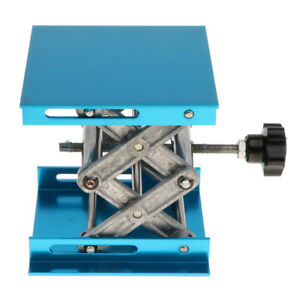 Details about Blue Lab Stand Scissor Lift laboratory Jack 100x100x150mm  Physics Equipment