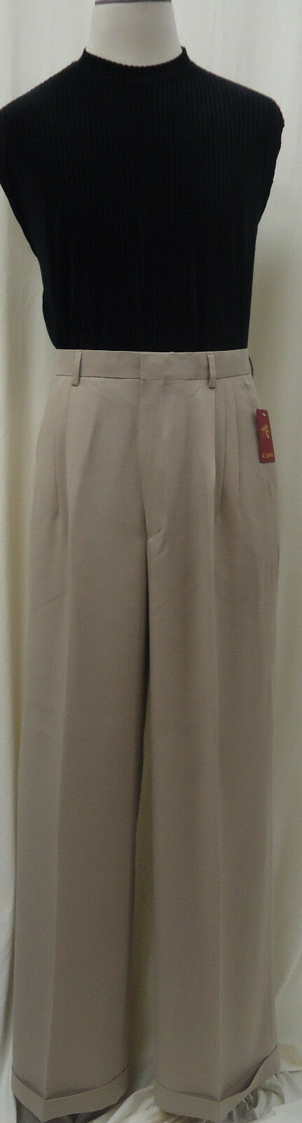 Mens IL CANTO Super Baggy 22  Wide-Leg Pleated Dress Pants Many colors