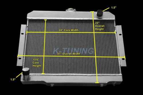 """3 ROW RADIATOR FOR JEEP CJ5//CJ6//CJ7 SCRAMBLER 3.8 4.2 5.0L L6 V8 1972-1986 24/""""W"""