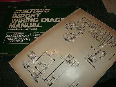 1990 MAZDA RX7 OVERSIZED WIRING DIAGRAMS SCHEMATICS MANUAL ...