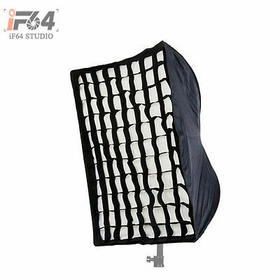 Photography 60 x 90cm Umbrella Rectangle Softbox with Grid For SpeedLight Flash