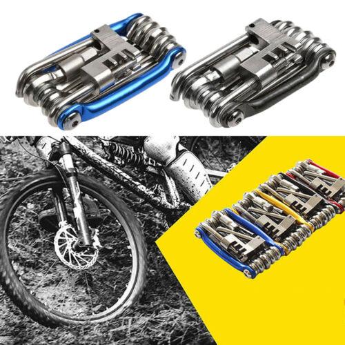 11 in 1 Hex Spoke Screwdriver Chain Cutter Cycling Bike Bicycle Repair Tools Kit
