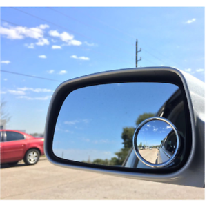 2  BLIND SPOT MIRROR ADHESIVE WIDE VIEW ANGLE CARAVAN TOWING WING REVERSING NEW