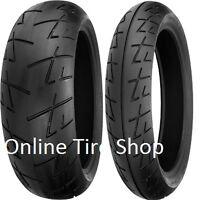 Shinko 009 Raven Motorcycle Tire Set 120/70-17 200/50-17 120/70zr17 200/50rz17