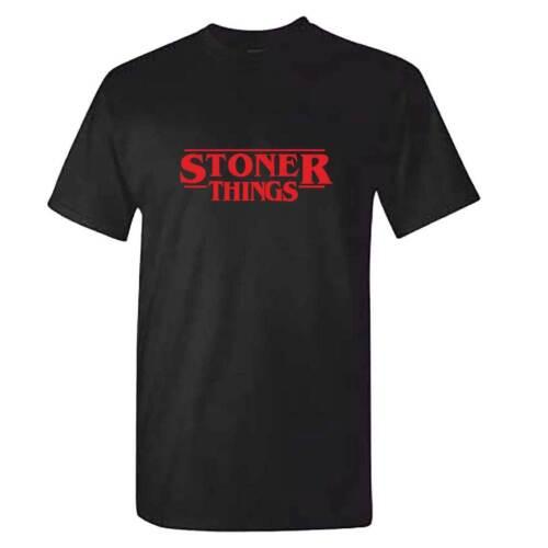 Stranger Weed Pot Things Gift T Shirt Christmas Unisex STONER THINGS Tshirt