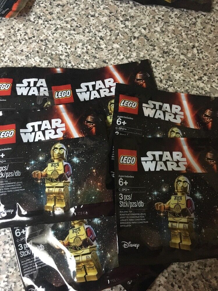 LEGO Star Wars The Force Awakens C-3PO rosso Arm PolyBorsa 5002948 Nuovo Sealed 8