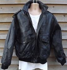 Ciro Citterio Vero Cuoio Black Leather A2 Flying /Aviator / Pilot Jacket - L