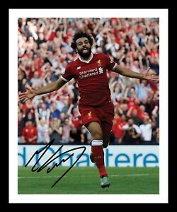 best authentic 29c93 f1f81 Details about MOHAMED SALAH - LIVERPOOL AUTOGRAPHED SIGNED & FRAMED PP  POSTER PHOTO 1