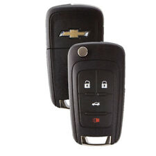 4-Button Chevrolet Remote Flip-Out Key Fob Cruze Camaro Malibu Equinox Sonic