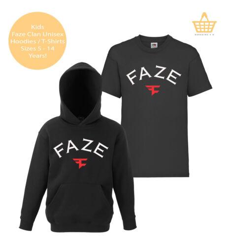 Kids FaZe Clan Hoodie T-Shirt Children/'s Gaming Gamer Warfare Tee Top Ps4 Xbox