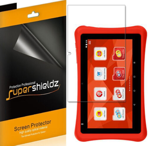 3X SupershieldzClear Screen Protector Shield for Nabi Hot Wheels Tablet
