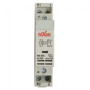 12Volt-20A-2Pole-1NC-1NO-Din-Rail-Contactor