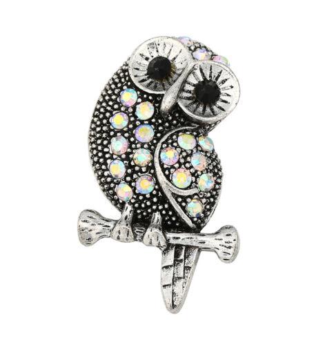 3DCrystal Parrot Charm Snap Button Fit For Noosa Necklace//Bracelet NSKZ121