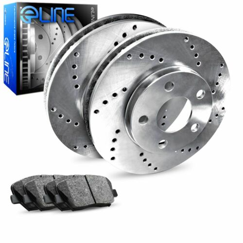 C350 Rear  Drilled Brake Rotors+Ceramic Pads C55 AMG For Mercedes-Benz C32 AMG
