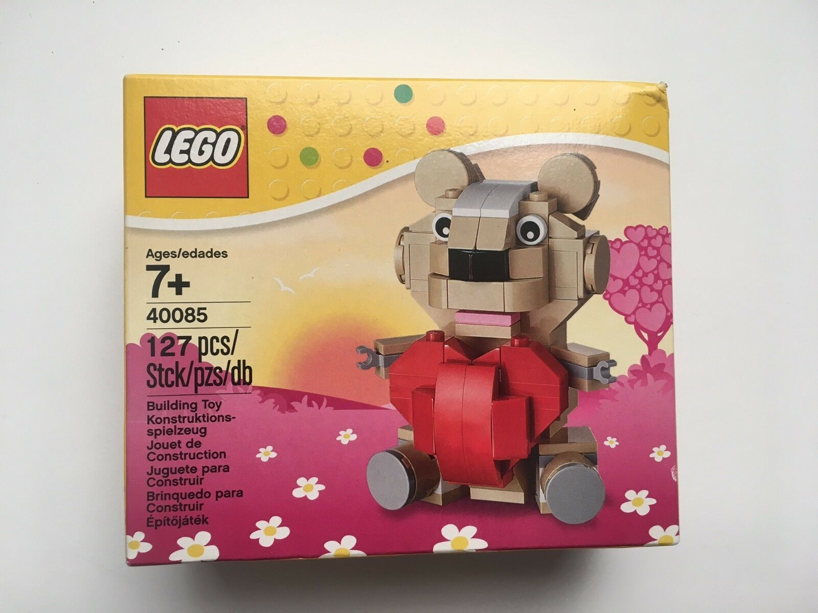 LEGO 40085 Valentine's Day Teddy Bear Retired Collectible Set Brand Brand Brand New Sealed f178c2